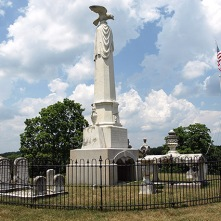 Johnson family plot atop what is now Monument Hill, Greeneville.