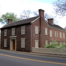 Andrew Johnson's home in Greeneville, Tennessee
