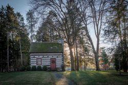Replica of the Buchanan log cabin, Mercersburg, Pennsylvania.