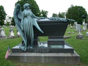 Arthur's sarcophagus, Albany Rural Cemetery