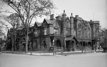Fillmore's mansion, Buffalo. Statler Hotel currently stands on the site.