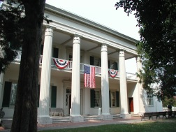 The colonnaded portico of The Hermitage, Nashville.