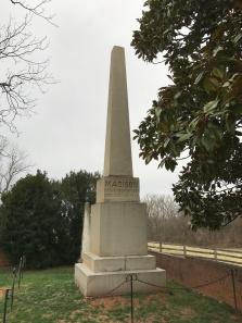 President Madison's grave marker, Montpelier, Charlottesville, Virginia.