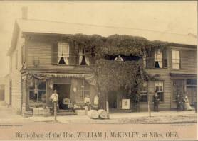 The McKinley birthplace functioning as a store.