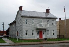 The reconstructed birthplace on the original site of the home.