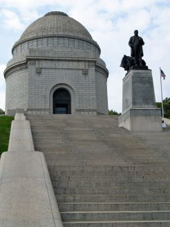 Looking up the stairs toward the McKinley Memorial, Canton.