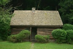 Replica of the Fillmore cabin, located in Moravia, New York.