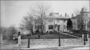 The Taft home, Cincinnati, Ohio, 1870s. The house is currently restored to that era.