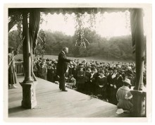 TR speaking on the porch of Sagamore Hill, 1917. Photo credit: National Park Service.