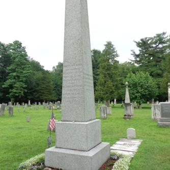 Van Buren's grave marker, Kinderhook, New York.