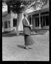 Mrs. Coolidge at the Homestead, Plymouth Notch.