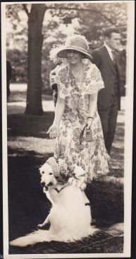Prudence Prim dressed for the garden party.