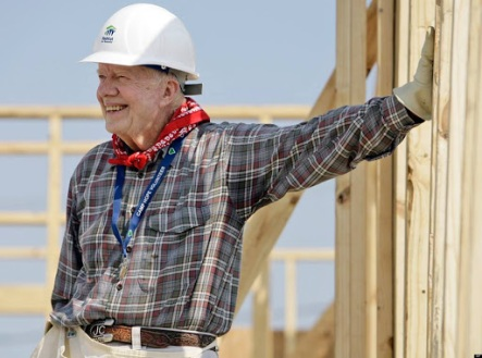 Jimmy Carter (1977-1981). Photo credit: Habitat for Humanity.