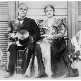 The McKinleys on their front porch during the 1896 campaign.