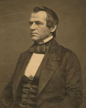 A younger Andrew Johnson