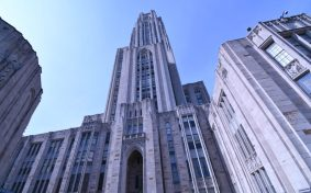 """Cathy"" (the Cathedral of Learning at the University of Pittsburgh, the masterful design of Charles Klauder"
