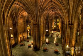 The Commons Room inside the Cathedral of Learning - widely regarded as Klauder's finest work.