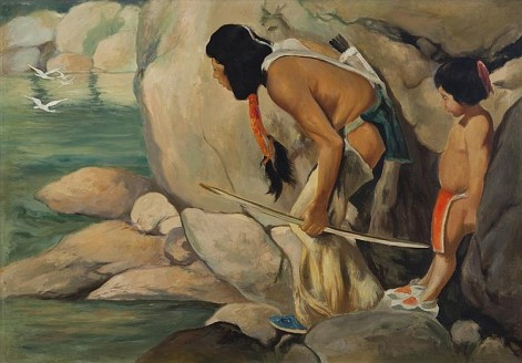 """Two Hunters"" by E. Irving Couse"