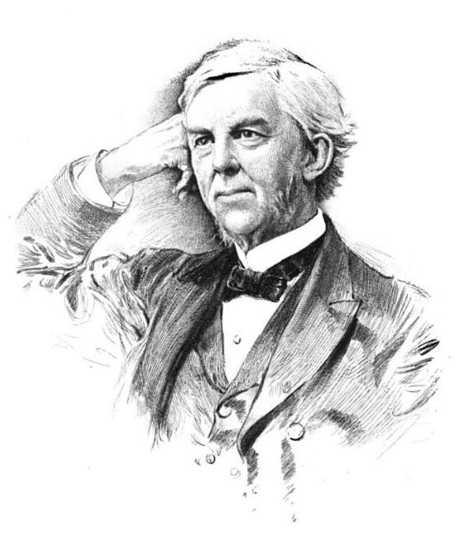 Dr. Oliver Wendell Holmes, Sr., father of the Supreme Court Justice and preeminent influence in his own right.