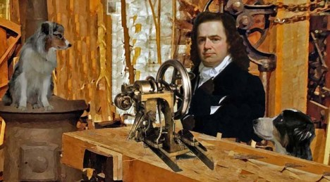 Elias Howe revolutionized the manufacture of clothes with the invention that saved millions the hours of slow, painstaking hand-work with thread and needle. Photo credit: doggedlyyours.com