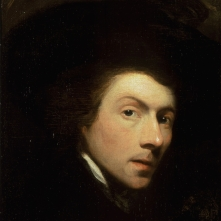 Gilbert Stuart, self portrait from 1778, perhaps the most prolific of painters from the American founding, completing portraits not only of six Presidents but hundreds of others, better and lesser known figures contemporary with them.
