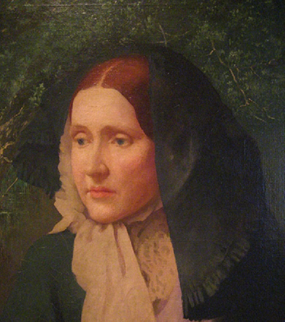 "Julia Ward Howe, author, activist, and composer of the lyrics of ""The Battle Hymn of the Republic."""