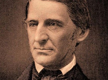 Ralph Waldo Emerson, trancendentalist and leading light in Boston's literary circle.