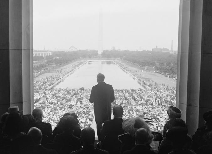 President Warren Harding (1865-1923) at the dedication Lincoln Memorial, June 30, 1922.